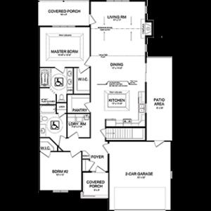 Windward floor plan of Elkhart Lake WI independent living homes