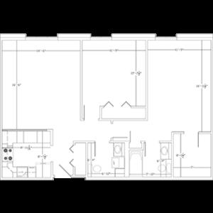 Deluxe floor plan - West Bend WI senior living apartments