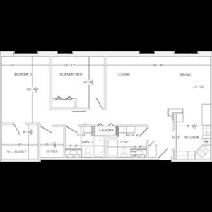 Premiere floor plan, Cedar Community's West Bend independent living apartments