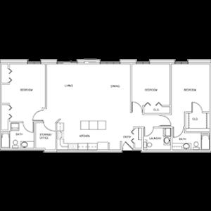 Apartment suite floor plan, Cedar Community senior independent living, West Bend Wisconsin