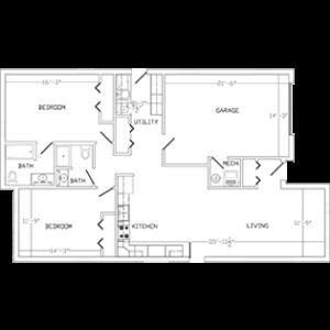 Cedar Lake Village senior living homes, floor plan