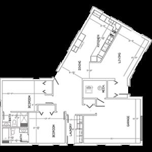 floor plan of senior independent living home in West Bend, Wis.