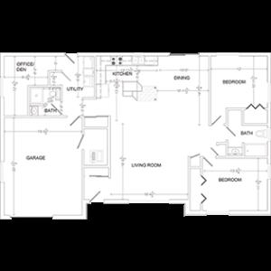 optional floor plan, West Bend Wis. senior living home