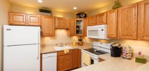 kitchen of Cedar Community's West Bend WI senior apartments