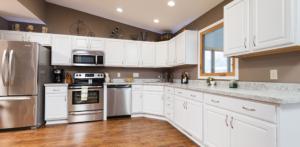 Kitchen view of West Bend WI senior apartments at Cedar Lake Village