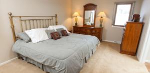 bedroom view - Cedar Lake Village senior living homes, West Bend WI