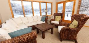 lots of windows for natural light- Cedar Lake Village senior living homes in West Bend, Wis.