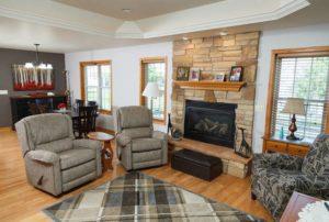 Elkhart Lake Village Homes for senior living - living room view