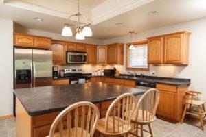kitchen view, senior living homes in Elkhart Lake, Wis.