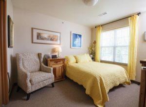 bedroom view, Elkhart Lake senior assisted living apartment