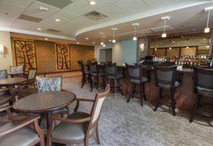 interior bar view, Top of the Ridge restaurant, West Bend senior living