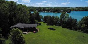 aerial view of Cedar Community on Cedar Lake, West Bend senior living