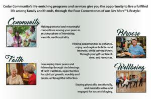 Cedar Community's cornerstones