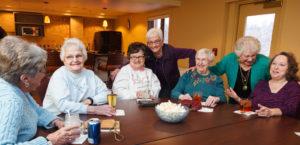 social hour at Cedar Community - senior independent living