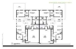 North Duplex Floor Plan, Cedar Ridge Homes, West Bend
