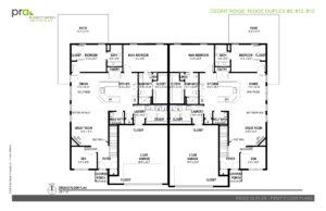 Cedar Ridge Homes floor plan - North Duplex