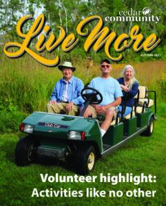 Live More Magazine, Fall 2021, Cedar Community